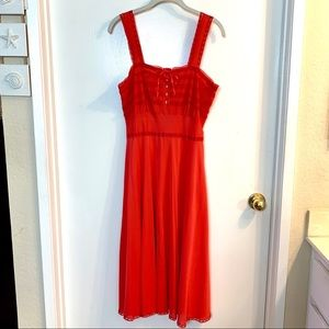 Sexy Red Nightgown Negligee Slip Dress Boudoir